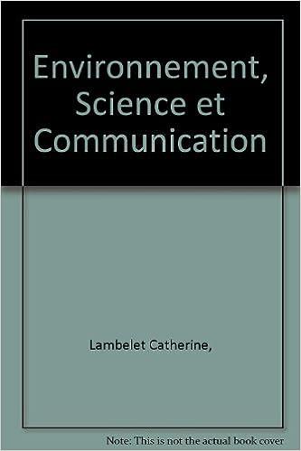 En ligne téléchargement Environnement, Science et Communication epub pdf