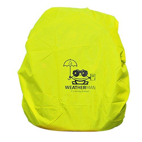 Weatherman Regenschutz für Schulranzen und Rucksäcke, Signalfarbe, mit Gummizug, Regenhülle, Sicherheitsüberzug, Sicherheitshülle, Schutzhülle, Regenschutzhülle (Gelb)