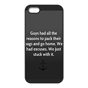 Fashion Anchor Personalized iPhone 5,5S PC Silicone Case Cover
