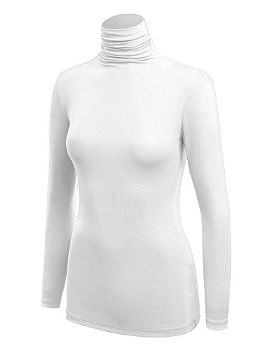 Womens Long Sleeve Turtleneck Sweater - 2