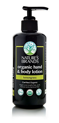 Herbal Choice Mari Organic Hand & Body Lotion Lemongrass 200ml/ 6.8oz Glass Pump - Glasses Mari