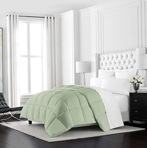 Hemau Premium New Soft Heavyweight Goose Down Alternative Comforter - Hotel Quality Luxury Hypoallergenic Duvet Insert - Warm Winter Comforter - King/Cal King - Sage | Style 503195858 ()