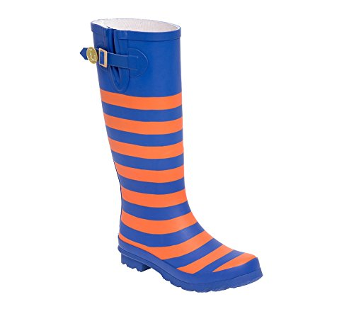 Initial Royal Blue Lillybee J Orange U and Rainboots qYS8wO5
