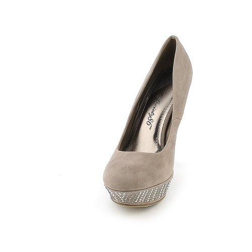 High Society Dress (Society 86 Womens Dash-33 Dress High Heel - Taupe Size 10)