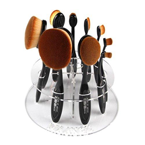 Internet Make-up Pinsel 10-Loch-Oval-Verfassungs Bürsten Halter Wäscheständer Organizer Cosmetic Shelf