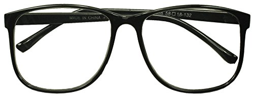 Sunglass Stop - Round Oversized Horn Frame Optical Rx +1.00 thru +3.50 Reading Glasses (Black, - With Guys Glasses Nerd