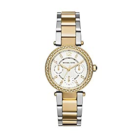 Michael Kors Women's Stainless Steel and Goldtone Mini Parker Watch