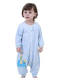 Infant Baby Long Sleeves Sleepwear Sleep Bag, 95% Cotton, Blue