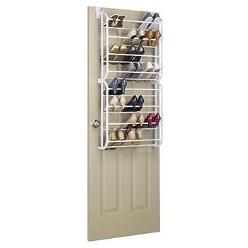 Whitmor Over the Door, 24Pr Floor Shoe Rack, White
