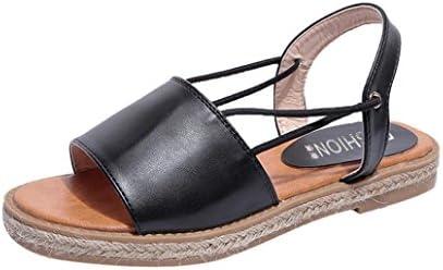 صندلهای تخت زنانه Inkach - کفش تابستانی پیراهن Peep Top Beach Flip-Flops
