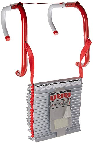 - Kidde 468094 Three-Story Fire Escape Ladder with Anti-Slip Rungs, 25-Foot
