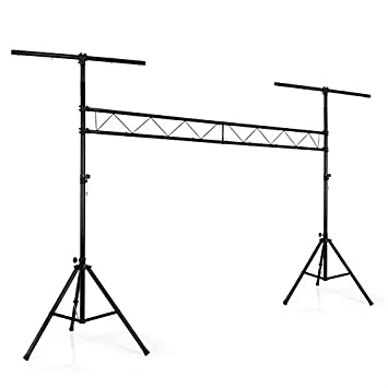 auna LTS-209LS (Mobile DJ Light Rig Crossbeam Lighting Stand System 120kg Max) - Black
