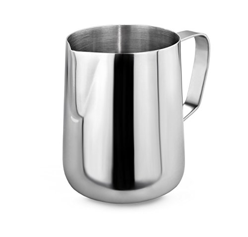 New Star Foodservice 28805 Commercial Grade Stainless Steel 18/8 Frothing Pitcher, 12-Ounce 12 Ounce Pitcher