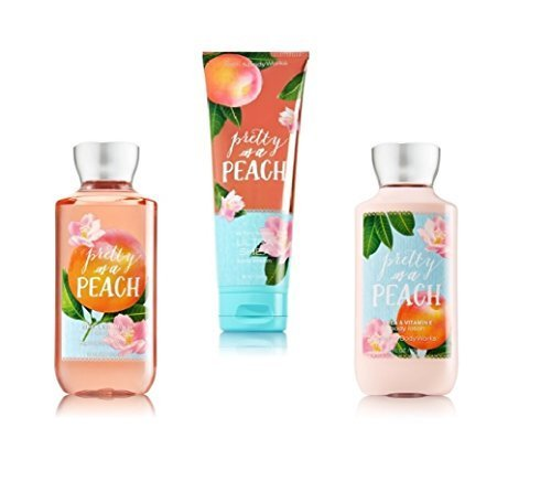 Bath & Body Works ~ Signature Collection ~* Pretty as a Peach* ~ Shower Gel ~ Ultra Shea Body Cream & Body Lotion ~ 3 pc Gift Bag - Gift Bag Lotion