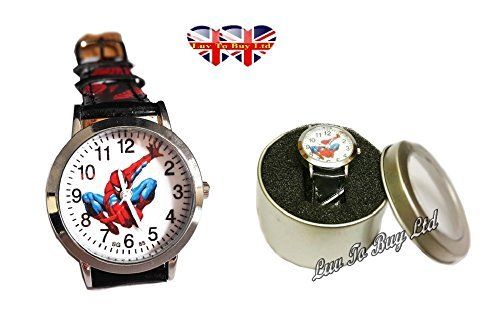 The Amazing Spider-Man Watch for Children (same day dispatch_ 3 to 7 working days) (Kids Fancy Dress Next Day Delivery)