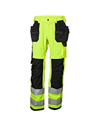 Helly Hansen 77413_369-D112 Class 2 Hi-Vis Pants with Alna Construction, D112, Yellow/Charcoal
