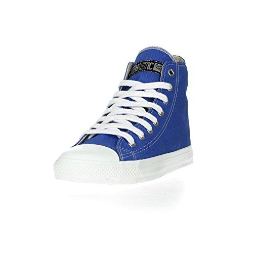 Ethletic Sneaker Vegan Hicut Collection 17 - Farbe Glow Blue/Just White Aus Bio-Baumwolle
