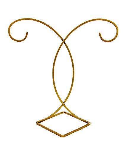 Swirl Diamond Design Gold (Homelux Stunning Luxurious Gold Diamond Base Ornament Display Tree, Small)