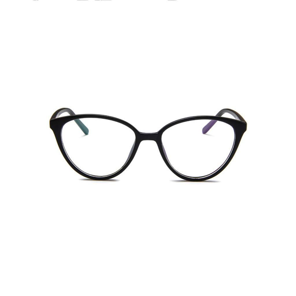SSYongxia❤ Unisex Women Men Girls Retro Stylish Non-Prescription Eyeglasses Glasses Clear Lens Eyewear Glasses Black