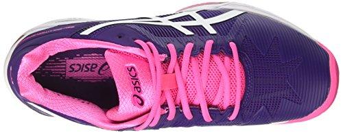 Asics Gel-challenger 10, Zapatos De Las Señoras De Tenis De Color Rosa-violeta-blanco