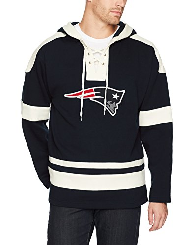 NFL New England Patriots Men's OTS Grant Lace Up Pullover Hoodie, Logo, - Nfl Sweatshirt