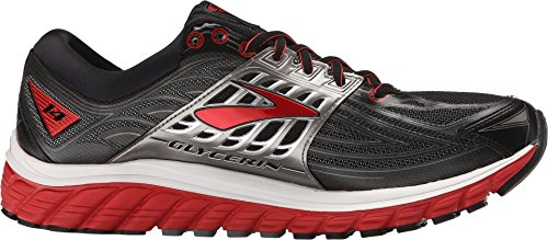 Brooks-Mens-Glycerin-14-BlackHigh-Risk-RedAnthracite-Sneaker-125-B-Narrow