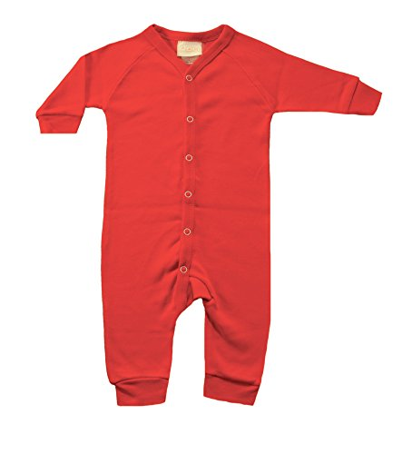 PAM GM Baby Blank Union Suit 100% Cotton 3 Months Red