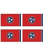 KIWISTAR Stickers 4,5 x 3 cm Tennessee Nashville - Bundesstaat autosticker VS vlag land wapen vlag sticker kenteken