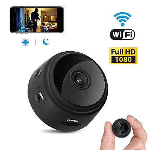 Mini Spy Camera WiFi Hidden Camera Portable Full HD 1080P Wireless Small Indoor Home Security Cameras Nanny Cam with Motion Detection and Night Vision (Black1)
