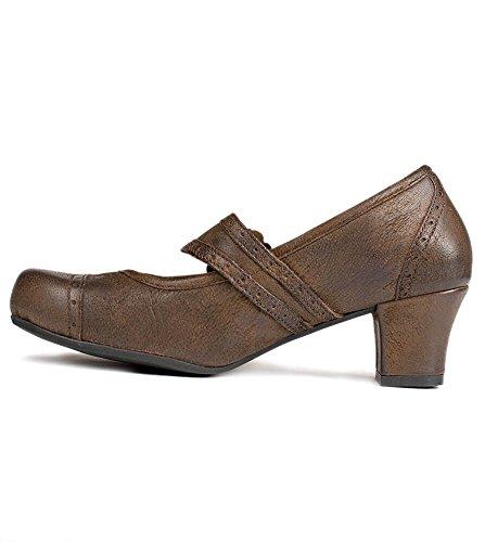 Wensky d418clarapumpsrustik amp; brown Az brown Women's Shoes Spieth Court wZavx