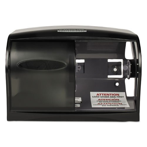 KIMBERLY-CLARK PROFESSIONAL* 09604 In-Sight Double Roll Coreless Tissue Dispenser- Translucent Smoke-11 x 6 x 7 5/8 B07CQ16WLT
