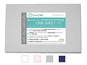 """Sage Green Sealy Therma-Fresh Cooling Moisture Wicking Fitted Crib Sheet Temperature Responsive /& Moisture Wicking Fabric Hypoallergenic Deep Fitted Stretch Skirt 52/""""x28/"""""""