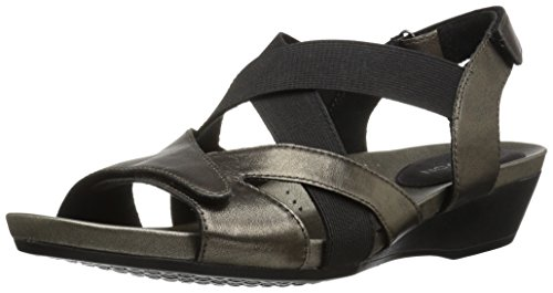 Aravon Women's Standon X Strap Heeled Sandal - Pewter - 7...