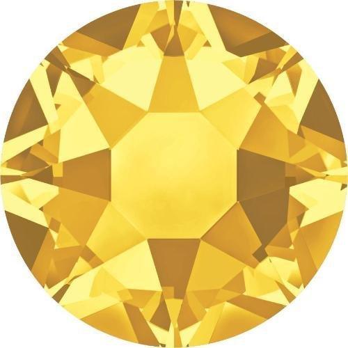 (2000, 2038 & 2078 Swarovski Flatback Crystals Hotfix Sunflower | SS6 (2.0mm) - Pack of 100 | Small & Wholesale Packs)