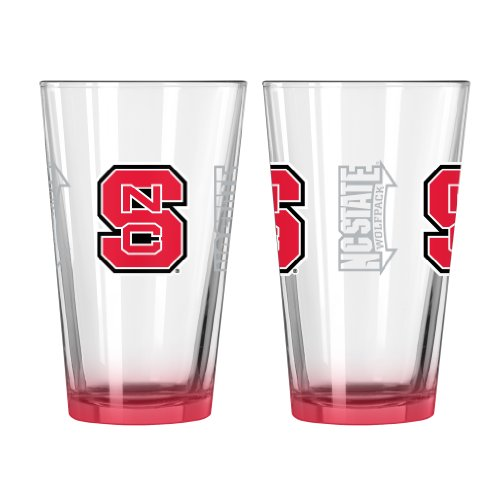NCAA North Carolina State Wolfpack Elite Pint Glass, 16-ounce, - North Glasses