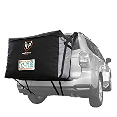 Add 13 cubic feet of cargo storage to your ride without compromising safety, comfort, or convenience with the Rightline Gear Car Back Carrier. Designed for use WITH or WITHOUT a roof rack, the carrier's patented design attaches to your roof r...