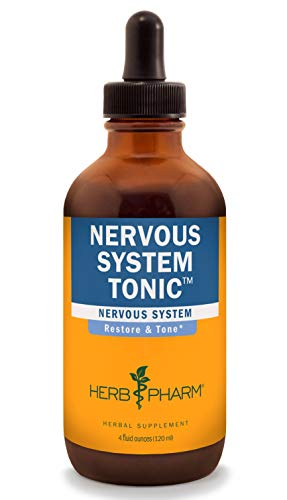 Herb Pharm Nervous System Tonic Liquid Herbal Formula to Strengthen and Calm the Nervous System - 4 Ounce