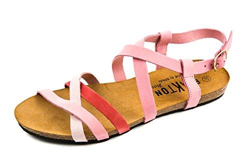 Bonbon PL1 pour 37 Rose Femme Sandales EU PLAKTON Rose 101 Z4qO0