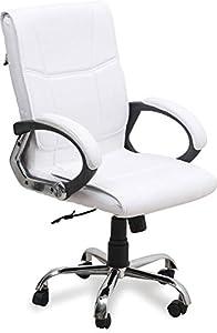 Nice Chair High Back Revolving Executive OfficeChair (White)
