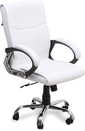 Nice Chair High Back Revolving Executive OfficeChair (White)