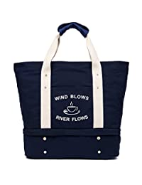 Malirona Workout Sport Bag Gym Tote Women Shoulder Canvas Bag with Shoes Pocket