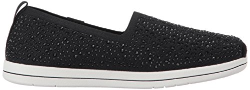 Women's Flat Rhinestone Black Plush from Super Skechers BOBS qwxC7aHav