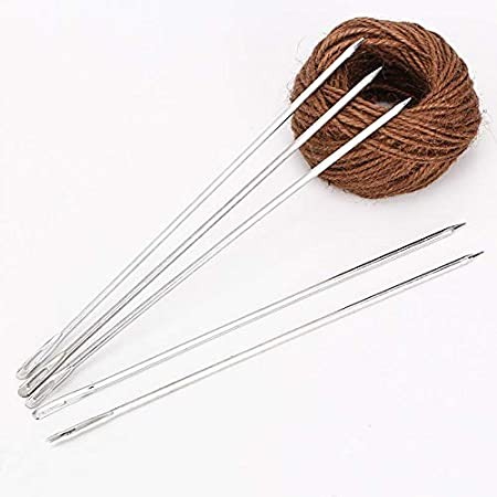 Sewing Bags Handmade Crafts 14cm Bend CHZIAMDE 5pcs Tapestry Metal Needle Flat and Bent Large Eyes Blunt Yarn Needles Knitting Sewing Weaving Needles for Beading Quilting Crochet