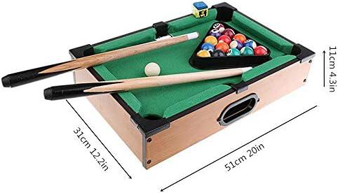 Mini juegos de mesa de billar: con 16 bolas resina, 2 tacos billar ...