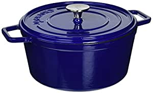 Crock-Pot 108072.02 Elmington Round Cast Iron Dutch Oven, 5 quart, Gradient Blue