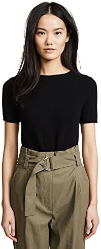 Theory Women's Cashmere Tolleree Short Sleeve Sweater
