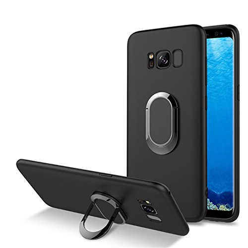 luckynv Magnetic Car Holder Kickstand Carcasa dedo anillo con función de atril para Samsung S8 Plus
