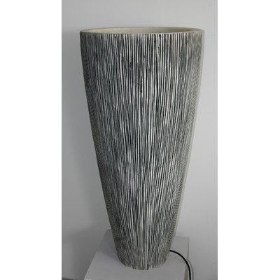 Screen Gems 18 by 39-Inch Sandstone Ribbed Finish Long Conical Planter with Light by Screen Gems