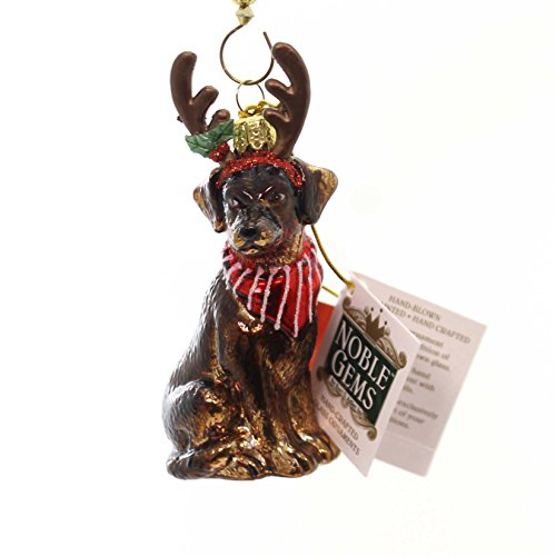 Choc Lab (Holiday Ornaments DOG WITH ANTLERS ORNAMENT Christmas Puppy Nb1261 Choc Lab)
