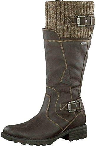 ovillo TAMARIS lana botas de de al agua resistente profundidad suela marrón para de marrón de interior de XqXBp